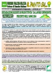 Il Punto Su n.12/2014 - Detassazione redditi di produttività da lavoro dipendente percepiti nell'anno 2014