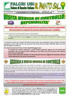 IL PUNTO SU NUM.18/2011 - VISITA MEDICA DI CONTROLLO