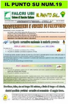 IL PUNTO  SU NUM.19/2010 - TRASFERIMENTI E GIORNI DI PREAVVISO