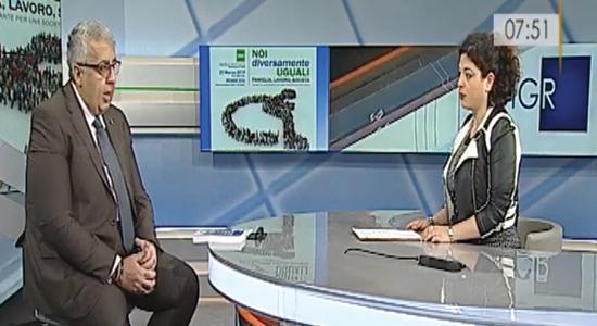 Rai 3 Calabria - Intervista del Segretario Generale Unisin Emilio Contrasto