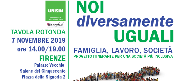 Noi Diversamente Uguali - Firenze 07 Novembre 2019 - Tavola Rotonda