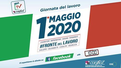 1 Maggio 2020 - Alle Ore 10 Diretta Facebook con la Confsal