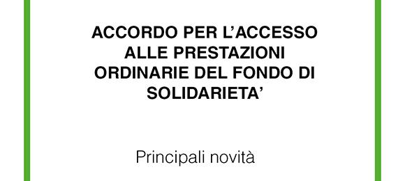 Emergenza Covid-19: Accordo per l'Accesso alle Prestazioni Ordinarie del Fondo di Solidarietà