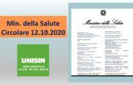 Ministero della Salute - Circolare 12 Ottobre 2020