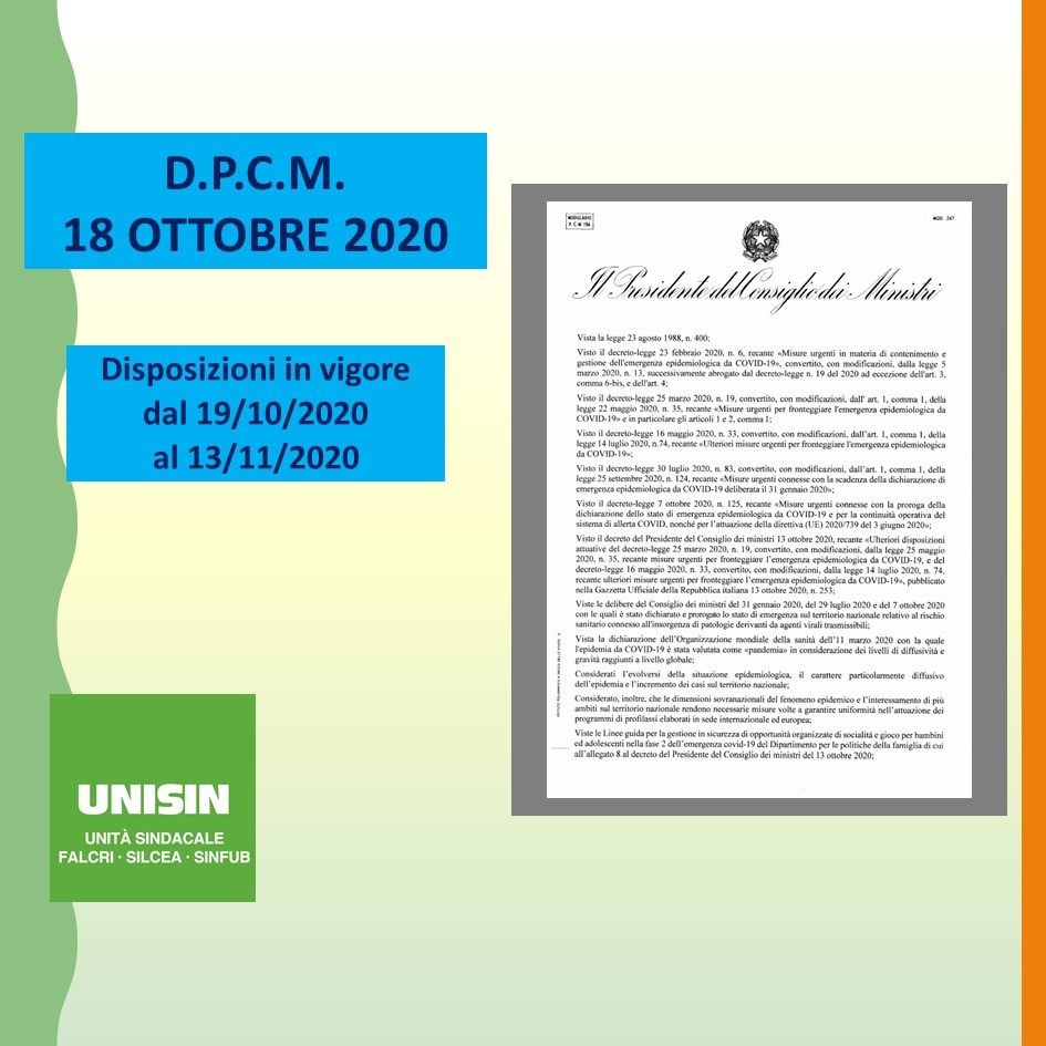 DPCM 18 Ottobra 2020 - Slide1