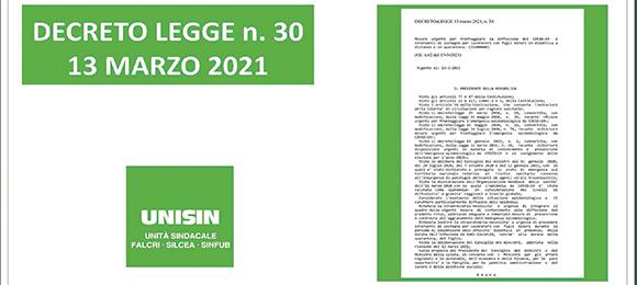DECRETO LEGGE 13 MARZO 2021 N.30 – LE SLIDE ILLUSTRATIVE DEL PROVVEDIMENTO