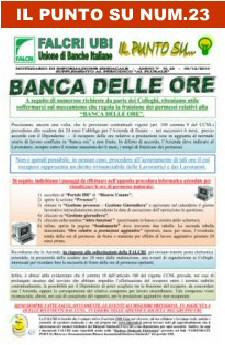 IL PUNTO SU NUM.23/2010  - BANCA DELLE ORE