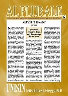 Al Plurale n.6/2014